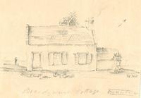 Brandywine Cottage, exterior; interior measurements on verso