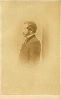 William Parker Foulke, full length, formal portrait, profile