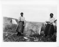 Pair of Ojibwa women at Pikangikum