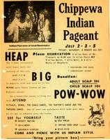 "Advertisement for ""Chippewa Indian Pageant"""