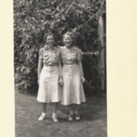 Twin Dresses on Eileen Sutton and Kitty Brehme Warren.
