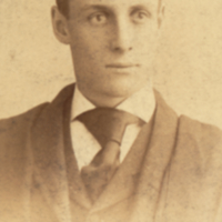 William Ezra Lingelbach wearing graduation cap and robe.