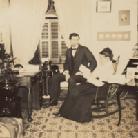 Joseph Russell Smith and Henrietta S. Smith in their room at George School, 1898.