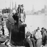 Christening of Nautilus at Brooklyn Navy Yard.