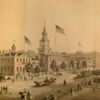 Independence Hall, Philadelphia, 1876.