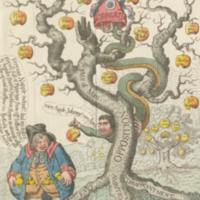 """Tree of Liberty, with the Devil Tempting John Bull."""