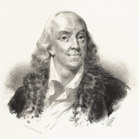 Benjamin Franklin, Ne a Boston en 1706, mort le 17 Avril 1790.