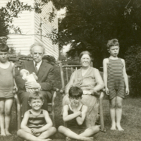 Franz Boas on his 70th birthday with Marie and grandchildren