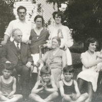 Franz Boas on his 70th birthday with Marie, children, and grandchildren