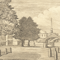 A View of the New Market from the Corner of Shippen & Second Streets Philadelphia, 1787.