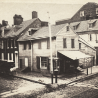Either N.W or .S.E. corner of 3rd and Lombard, Philadelphia, possibly Charles Willson Peale's house.
