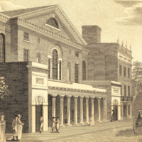The late Theatre in Chestnut Street Philadelphia.