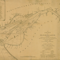 A chart of Delaware Bay and River, containing a full and exact description of the shores, creeks, harbours, soundings, shoals, sands and bearings of the most considerable land marks ,&c. &c.