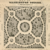 Map of Washington Square, Walnut Street, Philadelphia.