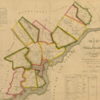 Map of Philadelphia County, constructed by virtue of an act of the legislature of Pennsylvania.