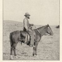 G. K. Gilbert on horseback.