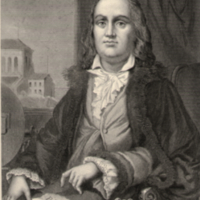 Franklin, seated at table.