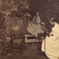 Lucy and Anna Peale, full length, informal, seated.