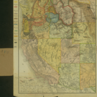 Map.  No. 1.  Western States.