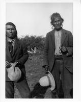F-274: Two Ojibwa men, portrait