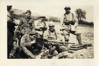 Harree or Orr with machine gunners