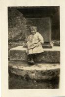 Young boy at crucifix