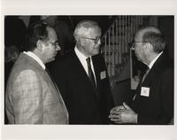 Eliot Stellar and Herman H. Goldstine at the Annual Meeting, 1990