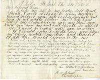 Elisabeth Velora Elwell to Albert G. Jackson, 1862 April 24