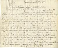 Elisabeth Velora Elwell to Albert G. Jackson, 1862 April 25
