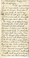 Elisabeth Velora Elwell to Albert G. Jackson, 1862 May 1