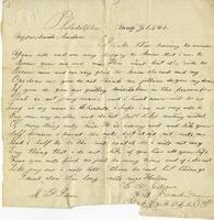 Elisabeth Velora Jackson to Albert G. Jackson, 1862 May 9