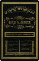 In loving remembrance of George Washington, died Dec. 14th, 1799