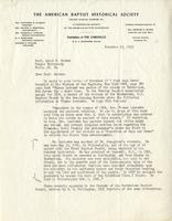 Edward C. Starr to Jacob W. Gruber, 1953 Nov. 19