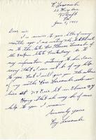 Ray Larcombe,  to Jacob W. Gruber, 1955 Jan. 6